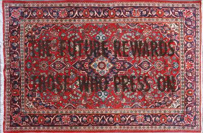 "Loredana Longo, 'Carpet#43 ""The Future Rewards Those Who Press On""', 2020"