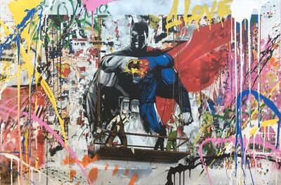 Mr. Brainwash, 'Batman vs Superman', 2016