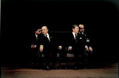 David Burnett, 'The First Summit-Geneva: Gorbachev & Reagan', 1985; printed 2020