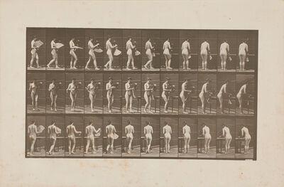 Eadweard Muybridge, 'Three plates, one from The Human and Animal Locomotion Photographs', 1887