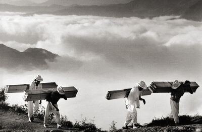 Sebastião Salgado, 'Wood Delivery Men for the Villages of the Eastern Sierra Madre in the Vicinity of Hualtla de Jiménez, Mexico', 1980