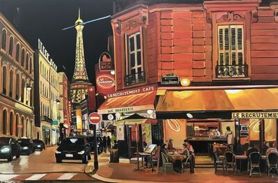 Angela Wakefield, 'Parisian Café, Eiffel Tower, Paris, France', 2017