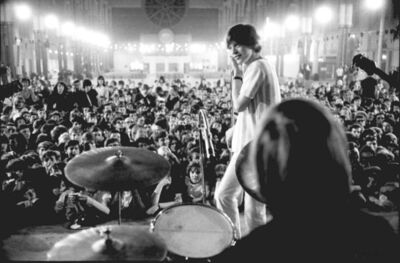 John 'Hoppy' Hopkins, 'Jagger on Stage, around 4am, 'All-Nighter', Alexandra Palace, London', 1964