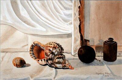 Ingeborg Haeberle, 'still life with snail', 2014