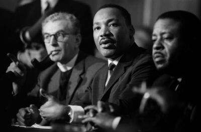 John 'Hoppy' Hopkins, 'Canon Collins, Dr Martin Luther King & Ralph Abernathy, Oxford Peace Conference, England', 1963