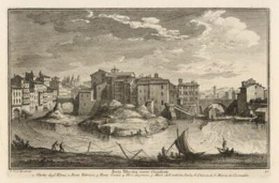 Giuseppe Vasi, 'Isola Tiberina verso Occidente', 1747