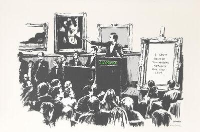 Banksy, 'Morons (White)', 2006