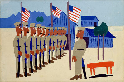 William Henry Johnson, 'Training for War', ca. 1942