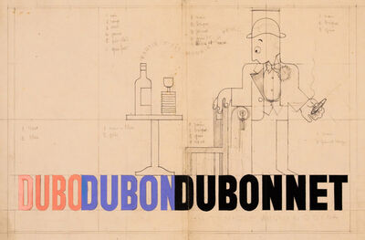 A.M. Cassandre, 'DUBO DUBO DUBONNET - ORIGINAL DRAWING', c.1932