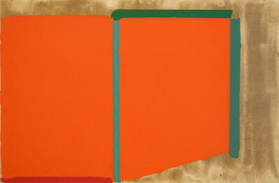 John Hoyland, 'Reds, Greens (also known as Large Swiss Red)', 1969