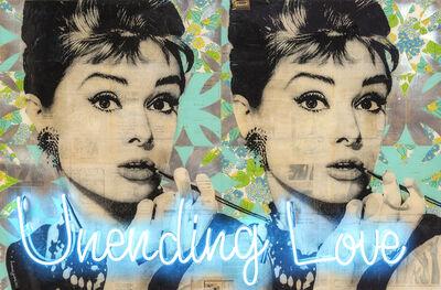 Robert Mars, 'Unending Love (Audrey Hepburn with neon)', 2018