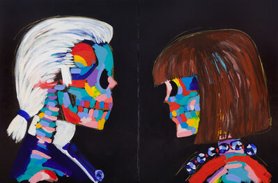 Bradley Theodore, 'Karl and Anna Face Off (Diptych)', 2016