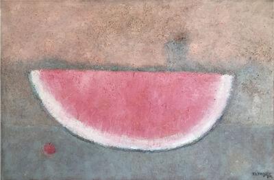 Rufino Tamayo, 'Sandia con cereza', 1989