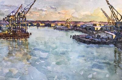 Derek Buckner, 'Shipping Cranes, Evening Light ', 2019
