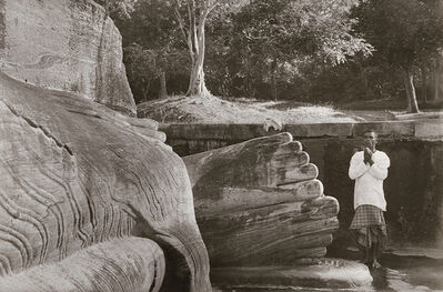 Henri Cartier-Bresson, 'Man Praying at the Foot of Buddha, Sri Lanka', 1949 / 1960s