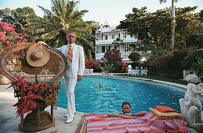 Slim Aarons, 'Lawrence Peabody II and his son at their family's villa, Boedecia, in Haiti, 1975', 1975