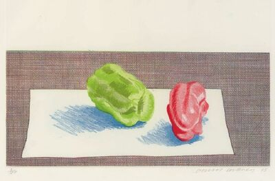David Hockney, 'Two Peppers (signed)', 1973