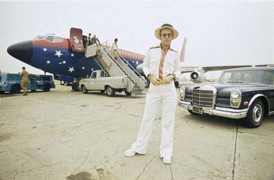 Terry O'Neill, 'Elton John and his Airplane, Los Angeles, CA', 1975