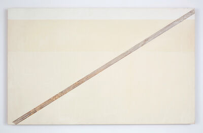 R. H. Quaytman, 'The Sun, Chapter 1 [diagonal edge, horizontal stripe]', 2001