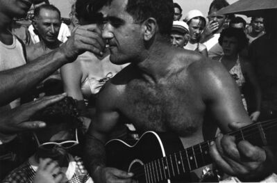 Harold Feinstein, 'Guitar Player and Cigarette, Coney Island', 1950