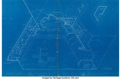Frank Lloyd Wright, 'Eight Developmental Blueprints of the Mr. & Mrs. Randall Fawcett Ranch House', 1956