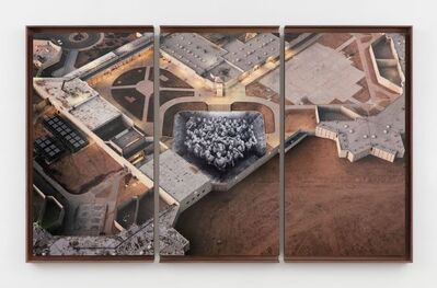 JR, 'Tehachapi, Sunset, Triptych, U.S.A.', 2019