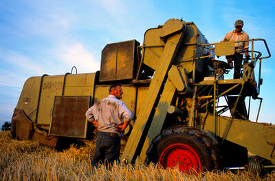 Justin Partyka, 'Harvest and Combine, Norfolk', 2009
