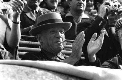 René Burri, 'Pablo Picasso, Bullfight in Nîmes, France', 1957
