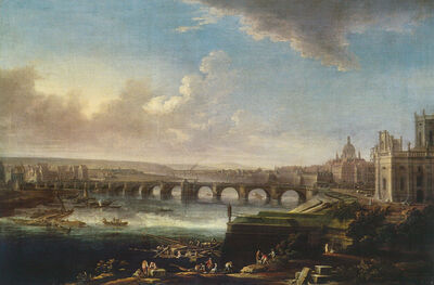 Alexander Thiele, 'View of Dresden with Augustus Bridge', 1746