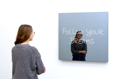 Jeppe Hein, 'Follow Your Dreams (Handwritten)', 2019