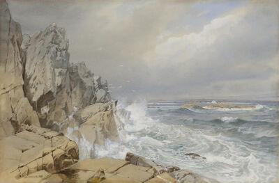 William Trost Richards, 'Surf Crashing', 1880
