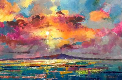 Jos Coufreur, 'Sunrise Over Rangitoto Island', 2020