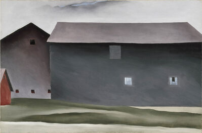 Georgia O'Keeffe, 'Lake George Barns', 1926