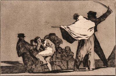 Francisco de Goya, 'Disparate Conocido (Que Guerraro)'