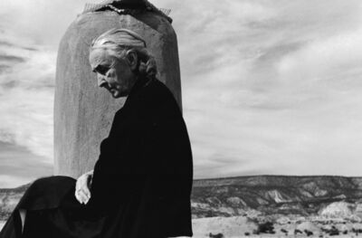 John Loengard, 'Georgia O'Keeffe on roof at Ghost Ranch, Abiquiu, New Mexico', 1967