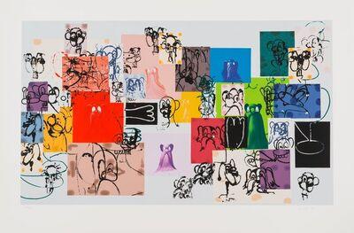 George Condo, 'Paper Faces', 2000