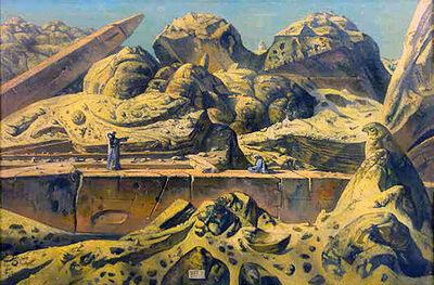 Eugene Berman, 'Aswan Desert Landscape with Two Obelisks', 1965