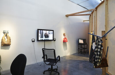 """Laure Prouvost, 'Installation view, """"Laure Prouvost: For Forgetting"""" at the New Museum', 2014"""