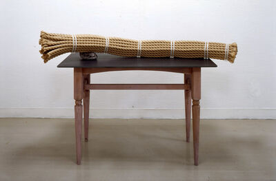Susumu Koshimizu, '作業台ー石枕 Work Bench - Stone Pillow', 2010
