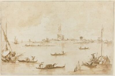 Francesco Guardi, 'The Fortress of San Andrea from the Lagoon', 1775/1785