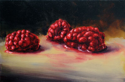 Cornelius Völker, 'Three Raspberries', 2018