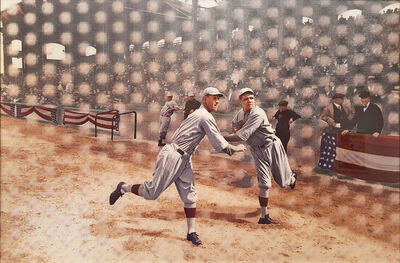 DJ Leon, 'Babe Ruth Warming Up to Pitch for the Red Sox at the 1918 World Series', 2016