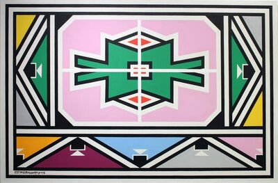 Esther Mahlangu, 'Ndebele Abstract - C001410', 2019