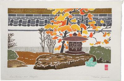 Toshi Yoshida, 'Lantern and Maples', 1964