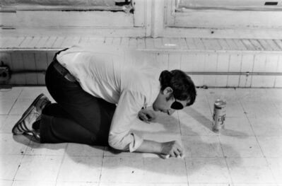 Billy Apple, 'Negative Cleaning Situation: Cleaning: Floor Tile, Saturday, April 21 1973', 1973