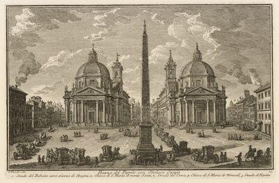 Giuseppe Vasi, 'Piazza del Popolo con Obelisco Egizio', 1747