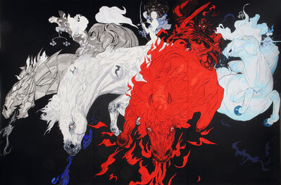 Amano Yoshitaka, 'Quatre Chevaux / Four Horses', 2015