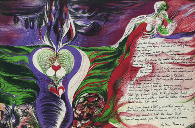 Ceri Richards, 'The force that through the green fuse drives the flower', 1945