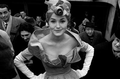 Frank Horvat, 'Paris, for Jours de France, Monique Dutto at métro exit', 1959