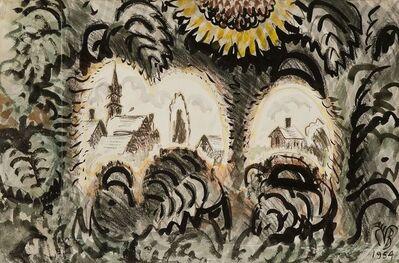 Charles Ephraim Burchfield, 'Sunflower Arches', 1954